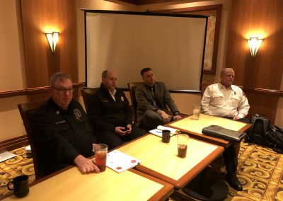 Expert Panel - Chief John Donahue, Chief Mike Kennedy, Public Safety Director Joshua Meier, and Chief Doug Isaacson